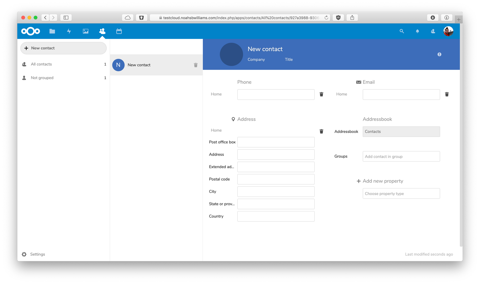 nextcloud-contacts